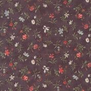 Moda Quill by 3 Sisters - 5609 - Blossom, Coral Floral on Plum - 44154 16 - Cotton Fabric