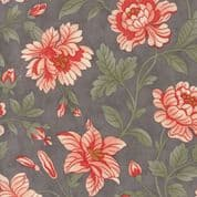 Moda Quill by 3 Sisters - 5613 - Damask, Pink Floral on Grey - 44156 12 - Cotton Fabric