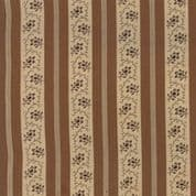 Moda - Spice It Up - 6611 - Floral Stripe in Brown - 38054 17 - Cotton Fabric