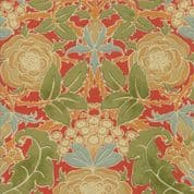 Moda - Voysey by The V&A - 6668 - Floral Reproduction on Red  - 7320 15 - Cotton Fabric