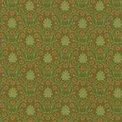 Moda - Voysey by The V&A - 6674 - Reproduction Floral, Daisies on Green  - 7323 17 - Cotton Fabric