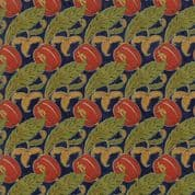 Moda - Voysey by The V&A - 6676 - Reproduction Floral The Gordon on  Navy - 7324 13 - Cotton Fabric