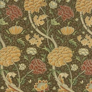 Moda William Morris by The V&A - 5643 - Reproduction Floral, Gold on Khaki - 7300 13 - Cotton Fabric