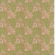 Moda William Morris by The V&A - 5653 - Tulip Willow Floral, Green & Pink - 7302 11 - Cotton Fabric