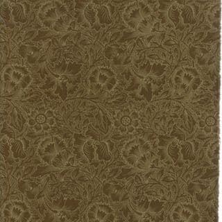 Moda William Morris by The V&A - 5657 - Poppy Floral in Dark Green - 7303 15 - Cotton Fabric