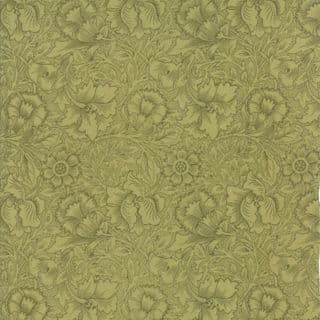 Moda William Morris by The V&A - 5658 - Poppy Floral in Pale Green - 7303 17 - Cotton Fabric
