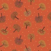 Orchard by Lewis & Irene - 7348 - Trees on Burnt Orange  A497.2 - Cotton Fabric