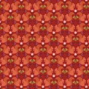 Orchard by Lewis & Irene - 7354 - Red Squirrels on Red  A499.2 - Cotton Fabric