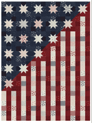 """Our Flag Stands for Freedom  - Moda Quilt Top Kit  - Finished Size 54"""" x 72"""" - KIT49120"""