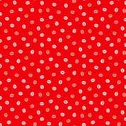 Pamper 7460 - Makower 2312.R-  Lips on Red Cotton Fabric
