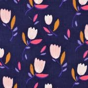 Patterned Pincord  - Tulips - 142cm wide