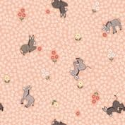 Piggy Tales - 7659 - Lewis & Irene A535.2 -  Dinky Donkeys on Peach Cotton Fabric