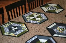 Set of Six Hexie Placemats