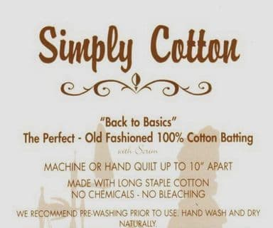 Simply Cotton Quilt Wadding - 120