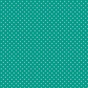 Spot by Makower UK - 5379 - White Spots on Turquoise - 830_T67 - Cotton Fabric