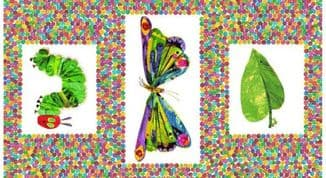 The Very Hungry Caterpillar - 7379 - Caterpillar Colourful Panel 3471 - Cotton Fabric