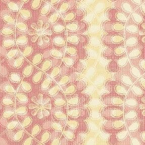 W108405 Extra Wide Cotton Fabric - Climbing Vine Rose on Dusky Pink