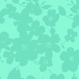W108707 Extra Wide Cotton Fabric - Modern Floral in Mint Green