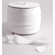 White Cotton Bunting Tape - 20mm