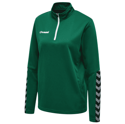 AUTHENTIC 1/2 ZIP SWEAT - Evergreen