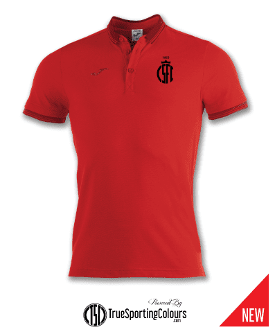 Cotton Polo Shirt - Red - CSFC