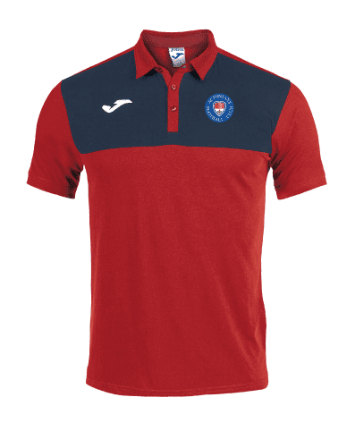Cotton Polo Shirt - Red/Navy - AAFC