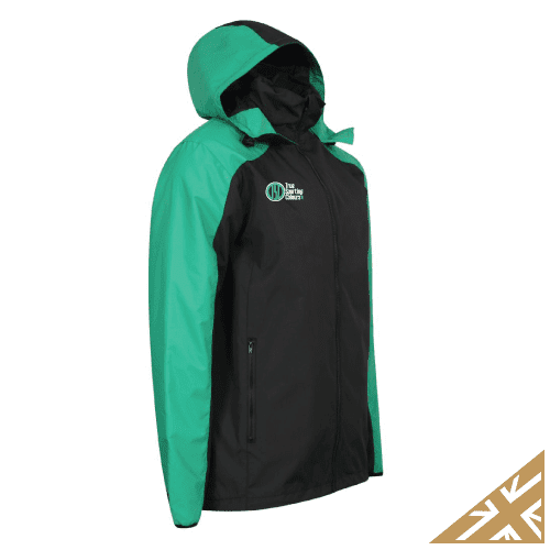 HELIX RAIN JACKET - Black/Emerald