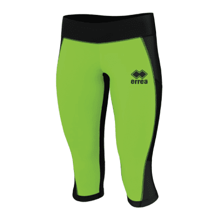 MARLENE 3/4 TROUSERS - Black/Green Fluo