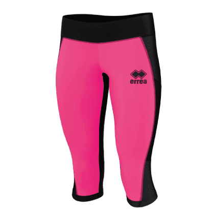 MARLENE 3/4 TROUSERS - Black/Pink Fluo