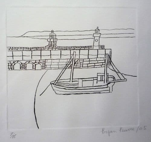 Bryan Pearce Smeaton's Pier limited edition signed lithograph