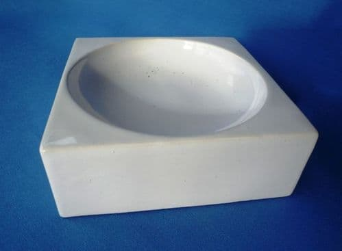 Troika Pottery Smooth Glaze White Shallow Bowl