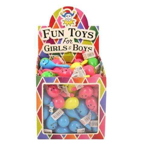 108 x Mini Neon Maracas Smile Face Children's Music Noise Maker Wholesale Box Henbrandt