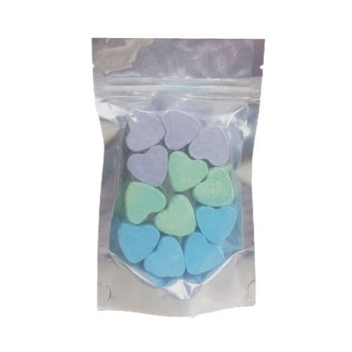 12 x Jasmine Passion Fruit Seakay Mini Hearts Fizzers Bath Bubble & Beyond 10g