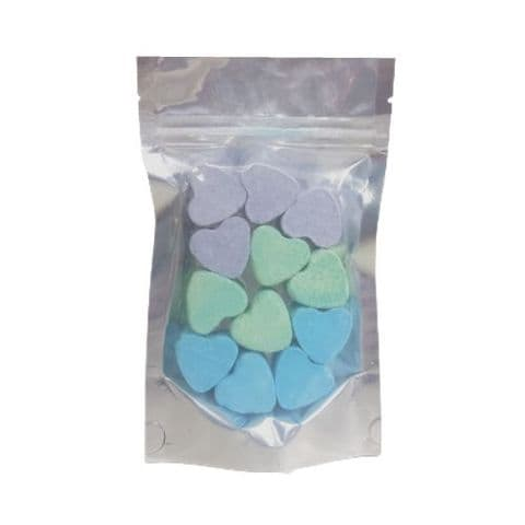 12 x Jasmine Passion Fruit Seakay Mini Hearts Fizzers Bath Bubble & Beyond 10g