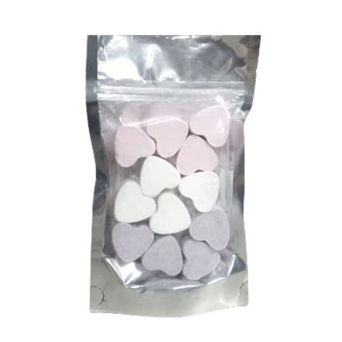 12 x Lavender Rose Snowmusk Mini Hearts Fizzers Bath Bubble & Beyond 10g