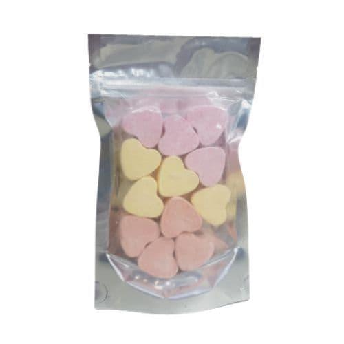 12 x Lemon Mango Strawberry Mini Hearts Fizzers Bath Bubble & Beyond 10g