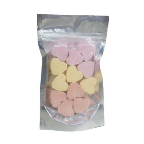 12 x Lemon Mango Strawberry Mini Hearts Fizzers Bath Bubble & Beyond 10g