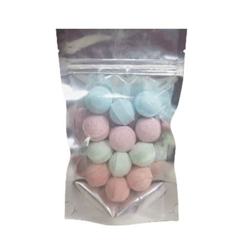 12 x Random Scented Mini Bath Marbles Fizzers - Bath Bubble & Beyond 10g Each