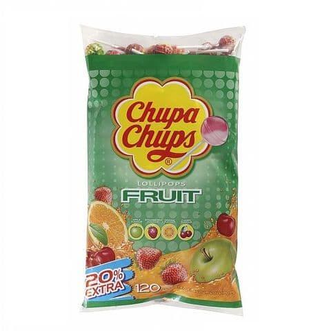120 x FRUIT Chupa Chups Lollipops Sweets Lollies 12g Each Wholesale Refill Bag