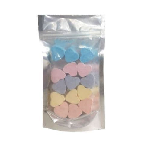 15 x Random Scented Mini Hearts Fizzers Bath Bubble & Beyond 10g