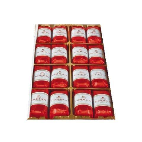 16 x Dark Chocolate Marzipan NIEDEREGGER Mini Loaves 12.5g Each