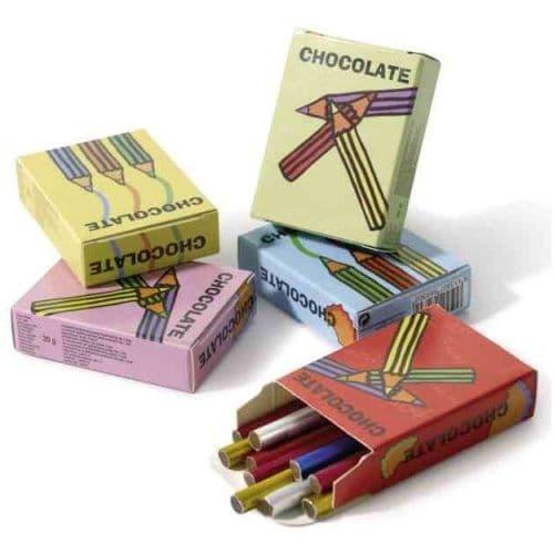 24 x Chocolate Pencils Novelty Chocolates (Boxes of 8) 20g Wholesale Bulk Buy
