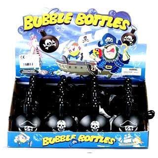 24 x Pirate Skull Crossbones - Blow Bubbles Necklaces Wholesale Bulk Buy