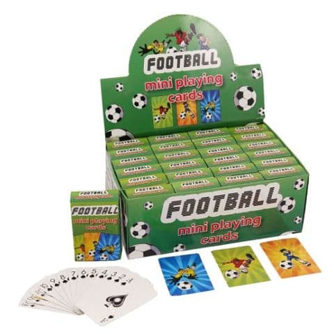 24 x Football Themed Mini Packs Playing Cards - Wholesale Bulk Buy Party Bag Fillers