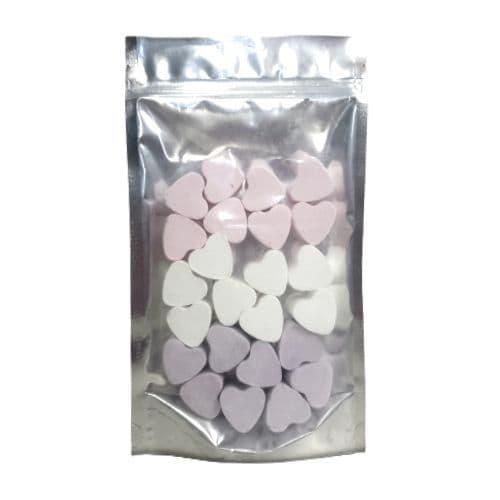 24 x Lavender Rose Snowmusk Mini Hearts Fizzers Bath Bubble & Beyond 10g