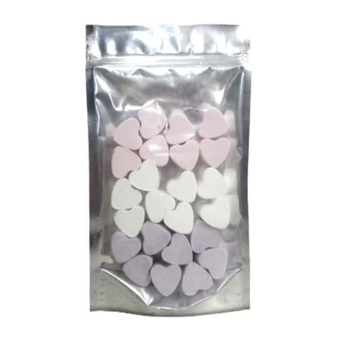 24 x Lavender Rose Snowmusk Mini Hearts Fizzers Bath Bubble & Beyond 10g