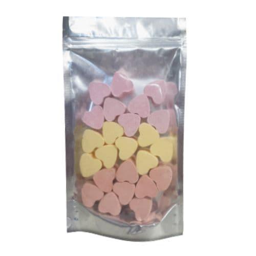 24 x Lemon Mango Strawberry Mini Hearts Fizzers Bath Bubble & Beyond 10g