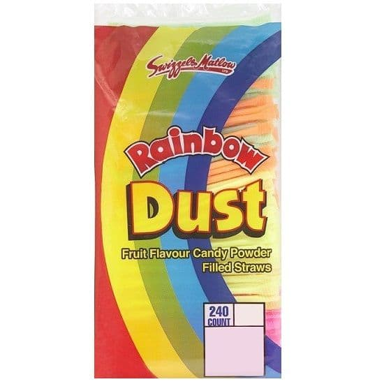 240 x Rainbow Dust Candy Straws - Swizzels Matlow Sweets Wholesale Bulk Buy