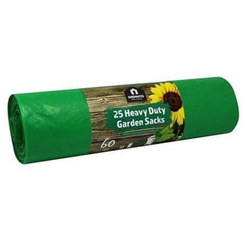 25 Green Heavy Duty Garden Sacks 60l Kingfisher Gardening Shedmates (80cm x 60cm)