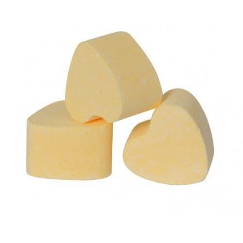 30 x Lemon Yellow Mini Bath Hearts Fizzers Bath Bubble & Beyond 10g